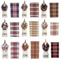 18 Farben Plaids Schals Grid Loop Schal Decken Frauen Tartan Übergroßen Schal Gitter Wraps Fransen Kaschmir Pashmina Schals GGA1161