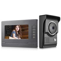 7-дюймовый монитор видео дверь телефон дверной звонок система видео домофон домофон для дома вилла 1-ИК-камера 1-ЖК-экран