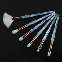 6 pcs set Marble Eye Makeup Brushes Mini Makeup Brushes Set ...