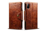 Pour iPhone X 8/7 Plus Portefeuille En Cuir PU Étui Avec Fermoir Magnétique Fort Folio Flip Kickstand Téléphone Couverture De Protection Avec Porte-Cartes