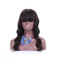 frente del cordón peluca de cabello humano brasileño para las mujeres negras sin cola suelta la onda peluca llena del cordón con explosiones completos