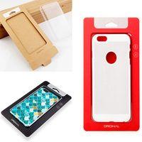 Горячая универсальная обычная Крафт - коричневая бумага розничная упаковка коробки для упаковки коробки для телефона iPhone 7 8 6 plus SAMSUNG Galaxy S7 edge с вставкой