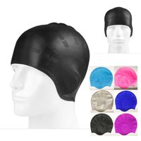 FT004 Unisex Adult Silicone Swimming Cap Waterproof Swim Lon...