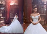 패션 얇은 명주 그물 새해 레이스 연인 오프 숄더 볼 가운 웨딩 드레스 저렴한 웨딩 드레스 플러스 사이즈 웨딩 드레스 DH4053