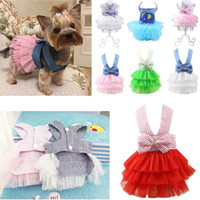 Vestiti Pet Dog Fashion Dress Sweety Princess Small Medium Dogs Pet Accessori Teddy Puppy Abiti da sposa XS-XXL