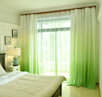 Solid Color Rainbow Summer Curtain for Living Room Bedroom W...