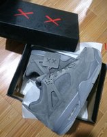 KAWS 4 XX Cool Grey With Box Kaws 4s Black Wholesale Basketb...