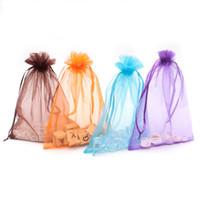 15x20cm bonito regalo de embalaje Bolsa de moda exhibición de la joyería de embalaje BagsPouches Medio bolsas de organza colorido decoración Drawable Las bolsas 200pcs / l