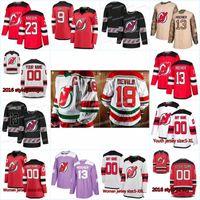 New Season New Jersey Devils Jersey 34 Eric Tangradi 44 miles Wood 49 Joey Anderson 42 ناثان باستيان 39 كورتيس غابرييل الهوكي الفانيلة