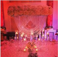 80CM التل كريستال الزفاف محور / حامل كعكة الزفاف كريستال / أكريلي زهرة حامل / عرس عمود الجدول الديكور