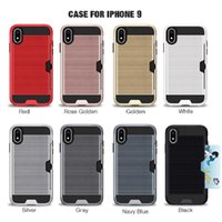 Card Slot Dirt- resistant TPU+ PC Case For Iphone 9 8s X S Plu...