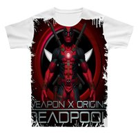 Men 3D Tees New Summer Deadpool Design Cool Magliette Simple Boys Maschile Tees Abbigliamento