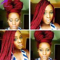 Long Straight burgundy red black brown purple Fully braided ...