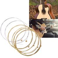 الغيتار الصوتية سلسلة غيتار خشبي 6 سلاسل الصلب مقلمة ل غيتارا باس أجزاء الملحقات