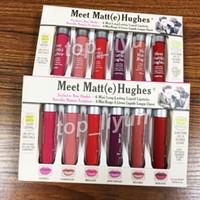Makeup Matte Lip Gloss Incontro Matt (e) Hughes Mini Rossetti a lunga durata in edizione limitata Liquid Lipstick 6 colori set Cosmetici