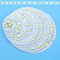 도매 Led 전구에 대 한 SMD5730 LED PCB 2W 3W 5W 7W 9W 12W 15W 18W 21W 30W 36W 화이트 / 자연 화이트 / 따뜻한 화이트 광원