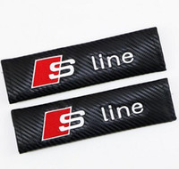 جديد s خط rs تطوير مقعد سلامة السيارة حزام غطاء لينة ألياف الكربون الحبوب بو حزام غطاء لأودي سيارة التصميم
