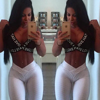 Femmes Sexy Fitness Ioga Slim Heangs Leggings pour une nouvelle mode Jacquard Beauty Jogger Gymnase Elastique Pantalon maigre