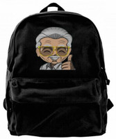 Stan Lee souvenir Canvas Shoulder Backpack Designer handbag ...