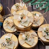 Caso di matrimonio Casandro Candy Banta Tinplate Caso Golden Circle Europeo Stile Europeo Personalizzato Candy Box Scatola di confezione creativa creativa