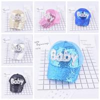 Ключевые слова на русском: Sequins Kids Hats Blitter Baby M Напечатанные бейсбольные шапки Boys Boys Snapback HIP-хоп шляпа Летняя солнцезащитная крена Cap сетка мяч шляпа GGA346