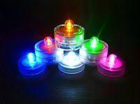 СВЕТОДИОДНЫЕ Погружные Водонепроницаемый Чайные Огни светодиодные Украшения Свеча подводный светильник Свадьба Внутреннее Освещение для пруд для разведения рыбы