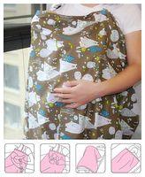 Cubierta de lactancia de algodón multifuncional Maternidad Cubierta de amamantamiento de la maternidad Mujer de la enfermera Paño amamantamiento Amamantar Capucha Toalla Niño Asistencia sanitaria