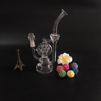 Recycler glass bong glass oil rig smoking pipe glass water p...
