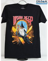 Vintage Uriah Heep world tour USA Size reprint brkh Mens 201...