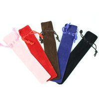 المخملية القلم الحقيبة حامل واحد كيس رصاص القلم حالة حبل قفل هدية حقيبة شحن مجاني LX4055