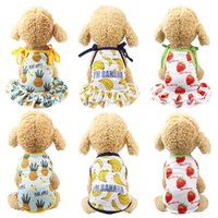 6 Colors Fruit Dog Dress Couple Puppy Clothes For Dogs Skirt...