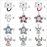 3 estilos Noosa surtido jengibre 12 mm botones a presión Chun Charms Crystal Heart Multi collares pendientes 316L joyería de cadena de acero inoxidable