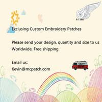 Patches brodés exclusifs sur mesure Design toute taille N'importe quel motif Patch personnalisé Livraison gratuite
