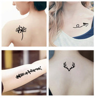 Special Waterproof Tattoo Sticker Embroidery Body Stickers S...