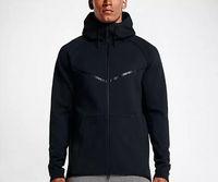 2018 جديد الخريف الشتاء حجم كبير الرجال هوديي الرياضية الصوف الصوف windrunnersh الأزياء الترفيه الرياضة سترة تشغيل اللياقة البدنية سترة معطف
