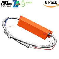 12W 25W 12-48vDC LED 라이트 비상 백업 외부 드라이버와 LED 제품에 대한 배터리 90 분 응급기구 (12-100W) (6 팩)