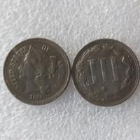 미국 1868 3 센트 니켈 코인 복사 동전 홈 장식 액세서리