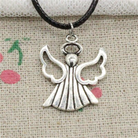New Fashion Tibetan Silver Pendant angle 26*21mm Necklace Ch...