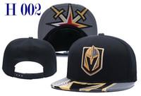 2018 New Vegas Golden Knights Snapback Gorras Hombres Mujeres Gorra de hockey sobre hielo Equipo de moda Sombreros Combinar Ordenar Todas las gorras Sombrero