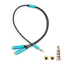 3.5mm 헤드폰 분배기 1 - 2 Y 이어폰 분배기 오디오 AUX 케이블 어댑터 헤드셋 잭 오디오 변환 분배 분배기 Universal
