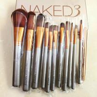 Livraison gratuite par ePacket 12 PCS Pinceaux Fondation Blending Ombres à paupières Contour Correcteur fard à joues cosmétiques outil de maquillage