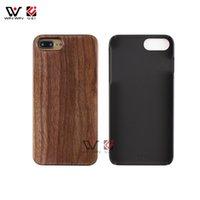 Cajas de teléfono celular móvil PC en blanco PC Wood con diseño personalizado Logo Cubiertas a prueba de golpes para iPhone 6 7 8 Plus x xr xs max