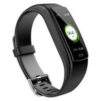 Presión Y9 inteligente de Sangre monitor de ritmo cardíaco rastreador de ejercicios inteligente pulsera del reloj inteligente impermeable iPhone Android reloj teléfono Para