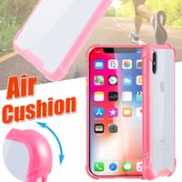 For iPhone X Air Cushion Case Hybrid TPU+ PC Transparent Bump...
