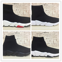 Wholesale sock men running shoes women white black red sport...