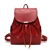 New style backpack women pu leather school fashionable leisu...