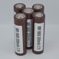 Batterie rechargeable de haute qualité de 18650 HG2 3000 mAh li-ion pour le mod de boîte à cigarettes électrique HG2