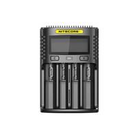 Nitecore UM4 Carregador Inteligente USB Four-Slot Display LCD Carregador Para 18650 20700 21700 26650 IMR Bateria Li-ion