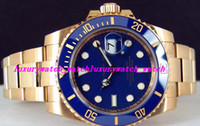 Luxury WATCH Fashion Watch Yellow Gold Blue Dial Ceramic Bez...