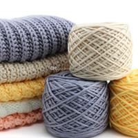 Algodón de seda mano del algodón leche tejer hilo Laine un hilo grueso tricoter vente en gros algodón leche para la bufanda tejer